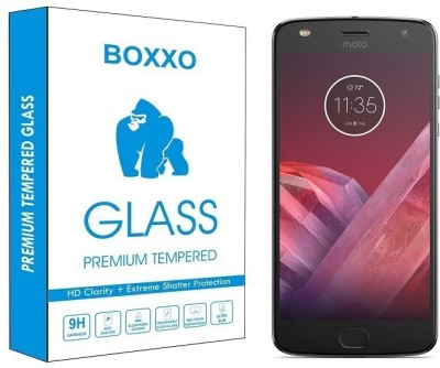 Boxxo Tempered Glass Guard for Motorola Moto Z2 Play Pack of 1 Boxxo Screen Guards