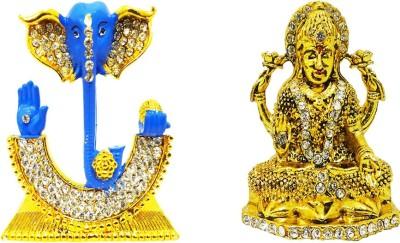 0310cb23ca3 FABZONE Combo of 2 Gift Religious Gold Plated Goddess lakshmi Ganesha  Idol Lord Ganesh Devi