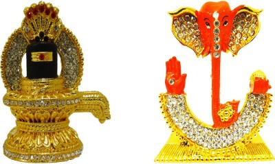 6664330fc5f FABZONE Combo of 2 Gift Religious Gold Plated Lord Shiva Shanker Shivling  Idol   God Ganesha