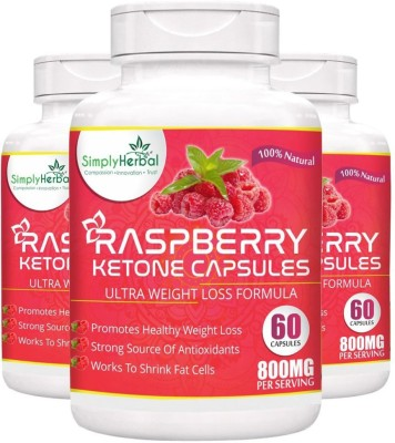 Simply Herbal Garcinia Cambogia + Raspberry Ketone + Green Tea Extract 800Mg 120 Capsules (Extract Hca)Weight Loss Suppliment(180 No)