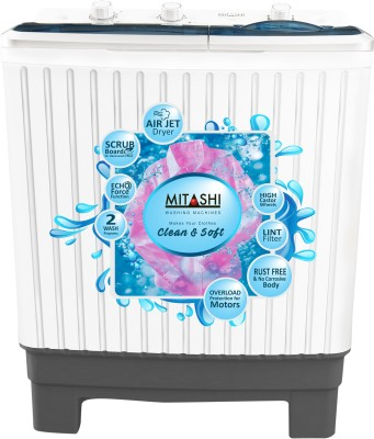 Mitashi 7 kg Semi Automatic Top Load Washing Machine White(MiSAWM70v25 AJD With Air Jet Dryer) (Mitashi)  Buy Online