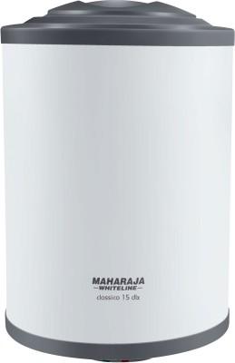 MAHARAJA WHITELINE 15 L Storage Water Geyser (Classico DLX, White and Blue)