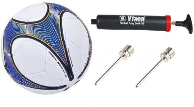 Nivia Combo of 3, Vega Football Size: 5 , Vixen Pump, and Needle Football - Size: 5(Pack of 1, Multicolor)  available at flipkart for Rs.845