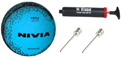 Nivia Combo of 3 , Revolvo Football Size-5, Vixen Pump, and Needle Football -   Size: 5(Pack of 1, Multicolor)  available at flipkart for Rs.699