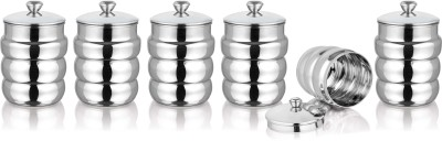 Aagam  - 450 ml Steel Multi-purpose Storage Container(Pack of 6, Steel)