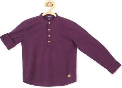 Allen Solly Girls Casual Cotton Blend Top(Purple, Pack of 1) at flipkart