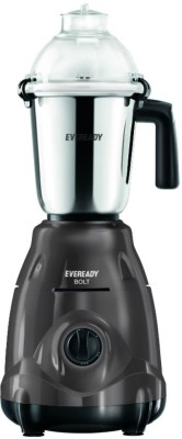 Eveready Bolt 750 W Mixer Grinder(Metallic Grey, 3 Jars)