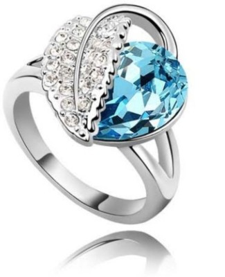 University Trendz UNIV_R002 Alloy Crystal 18K Rose Gold Plated Ring