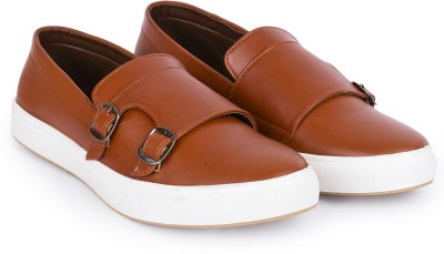 ROOD Monk Strap Casuals For Men(Tan)