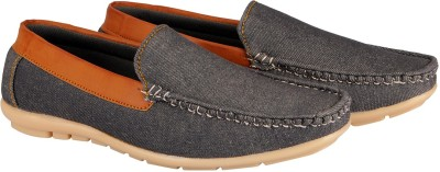 FAUSTO Stylish Loafers For Men Grey FAUSTO Casual Shoes