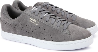 huge discount 5ed58 cd22b 50% OFF on Puma Court Star Suede Sneakers For Men(Grey) on Flipkart |  PaisaWapas.com