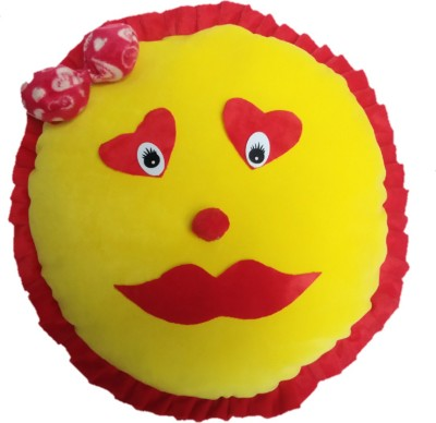Aparshi Designer cute Smiley stuffed cushion soft toy  - 60 cm(Yellow)