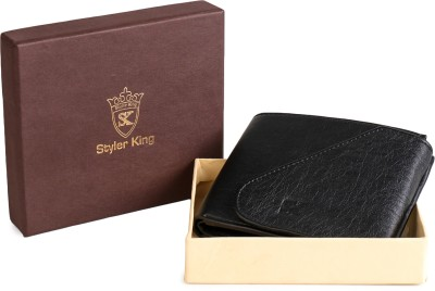 Styler King Boys Black Artificial Leather Wallet 7 Card Slots