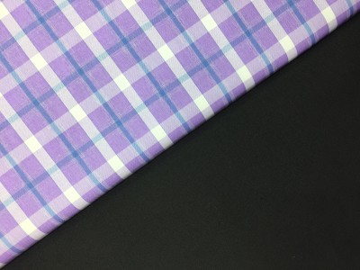 swing fashions Cotton Polyester Blend Checkered Shirt & Trouser Fabric(Un-stitched)