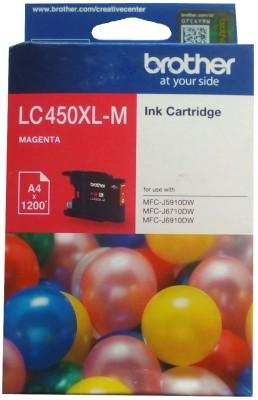 Brother LC450 XL- M Magenta Original Cartridge Box Pack For Brother MFC- J5910DW MFC- J6710DW MFC- J6910DW Printers Single Color Ink Cartridge(Magenta)