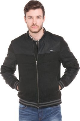 Flying Machine Full Sleeve Solid Men Bomber  Jacket at flipkart