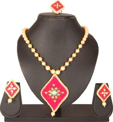 Jewels of Jaipur Gold-plated Diamond Metal Pendant