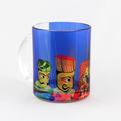 The Ringmaster Band Baaja Baarati (Blue) Glass Mug(250 ml) at flipkart