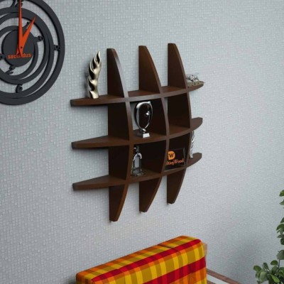 Masterwood Tyer rank MDF Wall Shelf(Number of Shelves - 12, Brown)