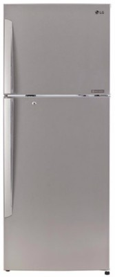LG 420 L Frost Free Double Door 4 Star Refrigerator(Noble Steel, GL-I472QNSX) at flipkart