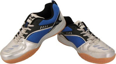 NIVIA APPEAL BLUE Badminton Shoes For Men Silver, Blue NIVIA Sports Shoes