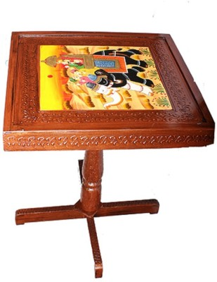 Apkamart Handcrafted Wooden Table for Home Decor and Gifts Solid Wood Side Table(Finish Color - Brown)