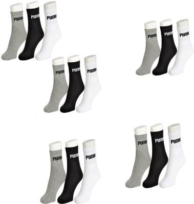 Puma Men's & Women's Ankle Length Socks(Pack of 15)