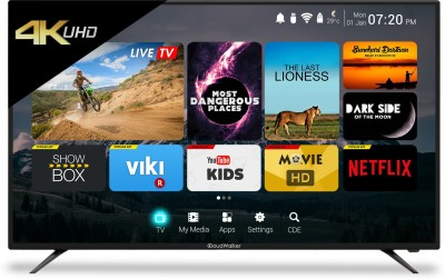 CloudWalker Cloud TV 165cm (65) Ultra HD (4K) Smart LED TV(CLOUD TV 65SU, 3 x HDMI, 2 x USB)   TV  (CloudWalker)