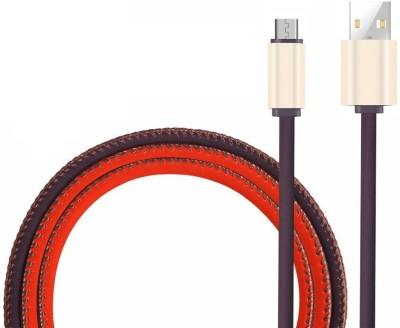 Edfigo 2.1A (High-Speed) Color Changing Fast Data Sync & Charge Cable(Brown&Orange)