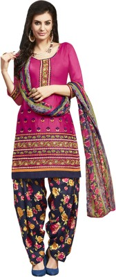 Ratnavati Cotton Embroidered Salwar Suit Dupatta Material(Un-stitched)