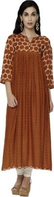 Shiloh Festive & Party Printed Women Kurti(Orange)