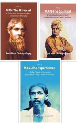 Man-The Universal, the Spiritual, the Superhuman (3 Vols. Set)(English, English, Santi Nath Chattopadhyay)