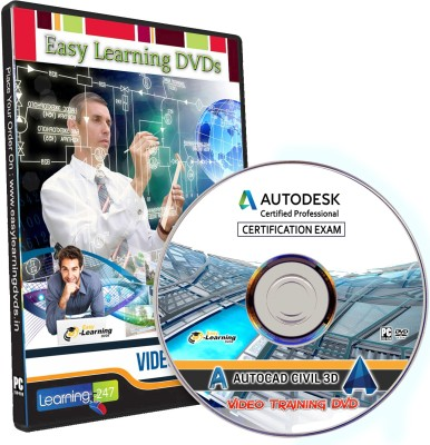 Easylearning AutoCAD Civil 3D Certified Professional Exam 2017 Video  Training Tutorial DVD(4K HD MP4)