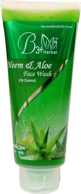 B3+ Herbal NEEM & ALOE VERA FACE WASH ( OIL CONTROL) Face Wash(100 ml)  available at flipkart for Rs.140