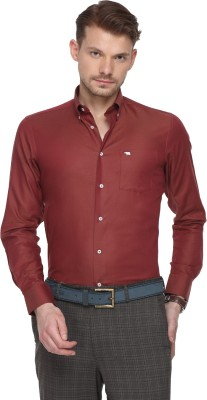The Bear House Men Solid Formal Maroon Shirt at flipkart