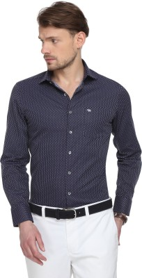 The Bear House Men Solid Formal Blue Shirt at flipkart
