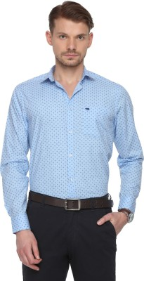 The Bear House Men Printed Casual Light Blue Shirt at flipkart