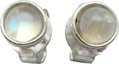 Sharda Elegant SJE-01 Moonstone Sterling Silver Stud Earring