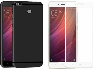 DigiPrints Cover Accessory Combo for Xiaomi Redmi 4 Black