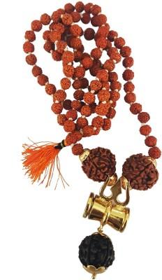 Fully Best Quality Nepal bead kantha Mala / japa Mala / Rudraksha Trishul Mala For Men Beads Wood, Metal Necklace at flipkart