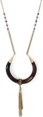 Voylla Artificial Classic Plain Gold-plated Plated Wood Necklace at flipkart