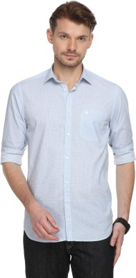 The Bear House Men Solid Casual Light Blue Shirt at flipkart