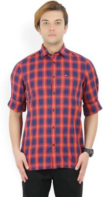 Arrow Sport Men's Checkered Casual Blue, Red Shirt