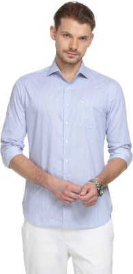The Bear House Men Striped Casual Blue Shirt at flipkart
