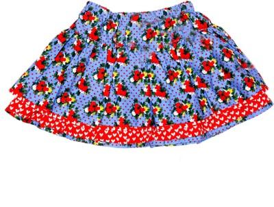 Always Kids Floral Print Girls Layered Blue Skirt Flipkart