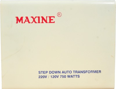 Maxine 220V / 120V - 750WATTS 750w with cut off 120v WATTS AUTO WOUND VOLTAGE CONVERTER 220 v to 110 v STEP DOWN TOROIDIAL TRANSFORMER FOR AMERICAN PRODUCTS MAXINE 100% COPPER(White)
