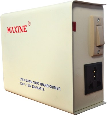 maxine 500W SE 500 WATTS AUTO WOUND VOLTAGE CONVERTER 220 v to 110 v STEP DOWN TOROIDIAL TRANSFORMER FOR AMERICAN PRODUCTS MAXINE 100% COPPER(Ivory)