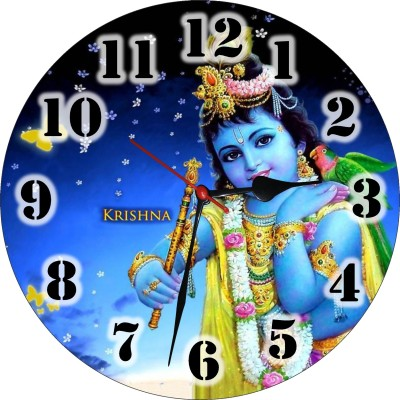 3D INDIA Analog Wall Clock(Metallic, Without Glass)