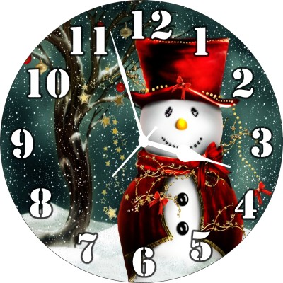 3D INDIA Analog Wall Clock(Multicolor, Without Glass)