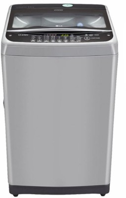 LG 8.5 kg Fully Automatic Top Load Washing Machine Silver, Black(T9577TEELJ)